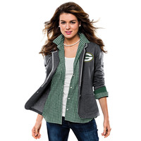Women's Green Bay Packers Majestic Charcoal Awesome Sight Blazer
