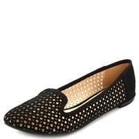 LASER CUT-OUT SMOKING SLIPPER LOAFERS