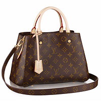 Samplefine2 Louis Vuitton LV Bag Print Shoulder Bag Handbag Crossbory Shopping Bag Coffee Print