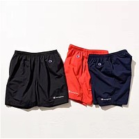 Champion Simple logo sports shorts, men women Red