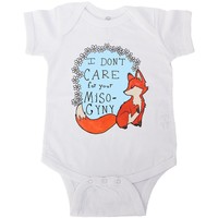 Feminist Fox Doesn't Care For Your Misogyny -- Baby Onesuit