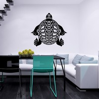 Sea Turtle Wall Decal Ocean Sea Animals Tortoise Decals Wall Vinyl Sticker Home Interior Wall Decor for Any Room Housewares Mural Design Graphic Bedroom Wall Decal Bathroom (6100)