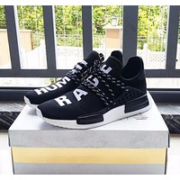 Pharrell Williams x Adidas Consortium NMD Human Race Black Sport Running Shoes Classic Casual Shoes Sneakers