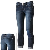 Mudd® Patched Skinny Ankle Jeans - Juniors