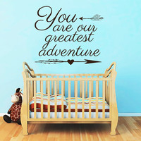 Wall Decals Quote You Are our Greatest Adventure Decal Boho Arrows Vinyl Stickers  Kids Nursery Home Bedroom Bohemian Decor T154