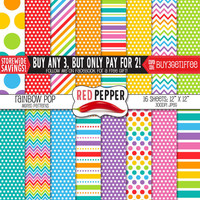Rainbow Pop - Digital Paper - Easter Colors - Instant Download - Ideal For Scrapbooking and Background Supplies