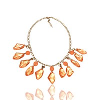 Transparent Plastic Abstract Bead Chain Necklace