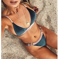 New Arrival Swimsuit Summer Beach Hot Patchwork Ladies Swimwear Sexy Bikini [10016940365]