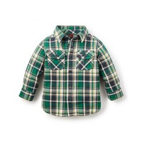 Tea Collection Cerro Galán Flannel Baby Shirt