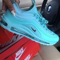 NIKE AIR MAX 97 Fashion Women Casual Air Cushion Sport Running Sneakers Shoes Blue