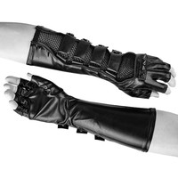 Punk Rave Men's Faux Leather Long Gloves S214 136091