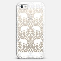 Elephant Damask White Clear iPhone 5s case by Jacqueline Maldonado | Casetagram