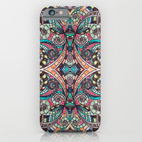 Drawing Floral Zentangle G237 iPhone & iPod Case by MedusArt | Society6