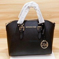 MK New fashion leather handbag shoulder bag crossbody bag Black