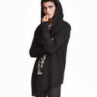 Hooded Knit Cardigan - from H&M