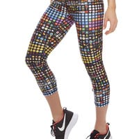 Womens Emoji Performance Capri Leggings