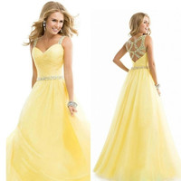 beautiful noble elegent long wedding enening formal party ball gown prom Bridesmaid Dress [8400981959]