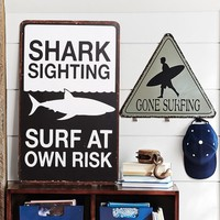 Metal Surf Signs