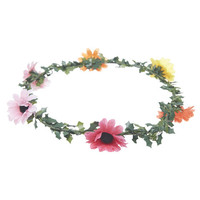 Multicolored Daisy Crown   Wet Seal