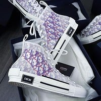 Dior B23 High-Top Canvas Sneakers Shoes