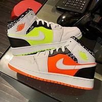 Air Jordan 1 Couples Candy Mandarin Duck Leisure Sports Basketball Shoes
