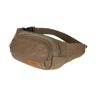 Canvas Fanny Pack Chest Waist Bag with Cell Phone Pouch