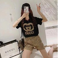 GUCCI Women With short sleeves Top Pants shorts Two-Piece