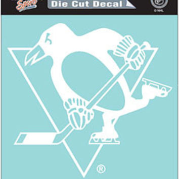 "Pittsburgh Penguins Die-Cut Decal - 8""x8"" White"