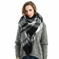 Winter Elegant Style Warm Plaid Scarf [9572824783]