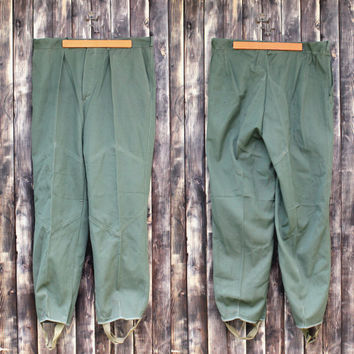Vintage military trousers man's Bulgarian army trousers field trousers military pants olive green canvas pants camo army Halloween costume
