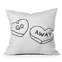 Leeana Benson Go Away Throw Pillow