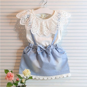 New Lovely Kids Summer Clothes Girls One Piece Sleeveless Princess One Piece Dresses = 1958249156