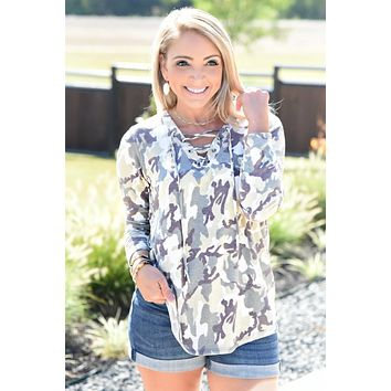 Walk With Me Top - Camo