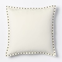 Studded Velvet Pillow Cover - Ivory