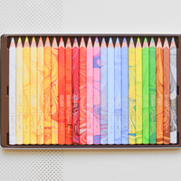 Multicolored colored pencils, marbleized pencils, multi-colored pencils, multi-color Koh-i-noor Magic