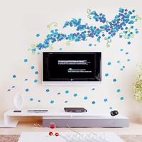 Flower Wall Stickers Poster For Rooms