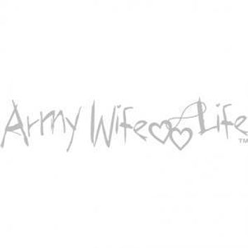 "Army Wife Life 12"" White Vinyl Transfer"