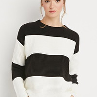 Striped Chunky Ribbed Sweater