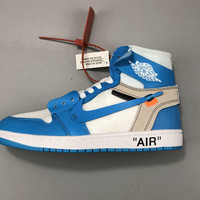 Air Jordan 1 x Off White UNC Basketball   Sneaker