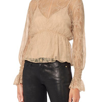 Exclusive for Intermix Genevieve Lace Top - INTERMIX®