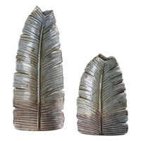 Invano Leaf Vases S/2