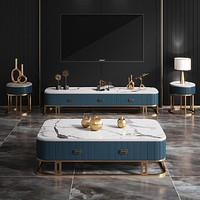 Modern Marble Coffee Table TV Table Night Stand