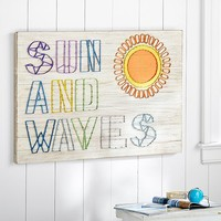 Sun And Waves String Art