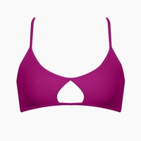 Spitfire Strappy Back Bikini Top - Purple