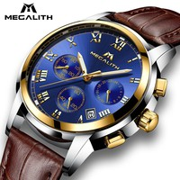 MEGALITH Watches Men Sports Waterproof Date Analogue Quartz Men's Watches Chronograph Business Watches For Men Relogio Masculino