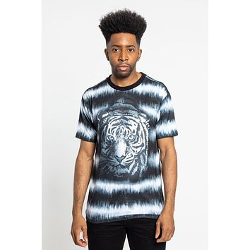 Horizontal Stripe Dyed Tiger T-Shirt