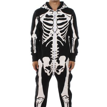 White and Black Skeleton Jumpsuit