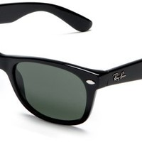 RayBan RB2132 901L Black Frame Crystal Green Lens Size 55 Sunglasses