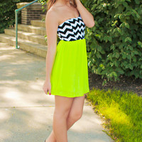 Beauty Pop Dress - Lime