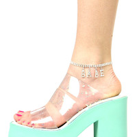AVA MINT SPECKLE SANDALS
